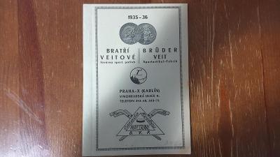 Starý katalog zboží pro lyžaře a hokejsty z roku 1936-Perfektní stav