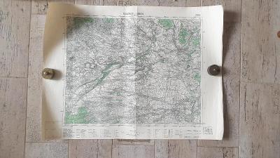 Vojenská mapa 3852-Roudnice nad Labem-Velvary-Budyně-Třebenice 1938
