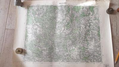 Vojenská mapa 4454-České Velenice-Suchdo.n.L-Klikov-Chlum u Třebon1947