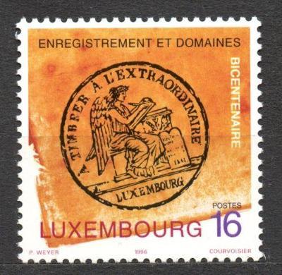 Lucembursko 1996 Fiskální razítko Mi# 1403 0104