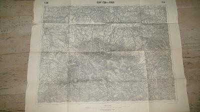Stará vojenská mapa 1926-Český Těšín-Frýdek-Sudety-Frydland-Jablunkov