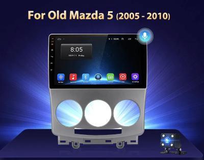 2GB RAM Android MAZDA 5 2005-2010, GPS navigace, KAMERA, WIFI USB