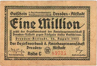 1 MILLION MARK, 1923, série C, krásná bankovka, krásný stav aUNC !!!