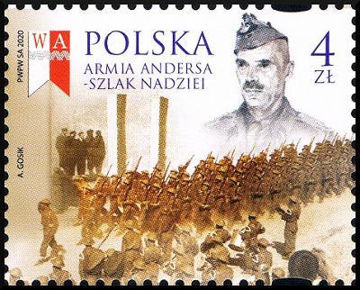 Polsko 2020 Známky Mi 5248 ** Andersova armáda Druhá světová válka