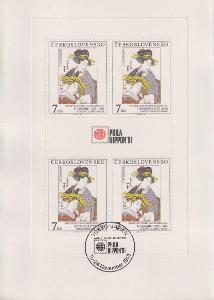 Pamětní list Artia - ČSSR - Philanipon 1991