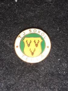 Odznak TJ Sokol Teplá , okres Cheb