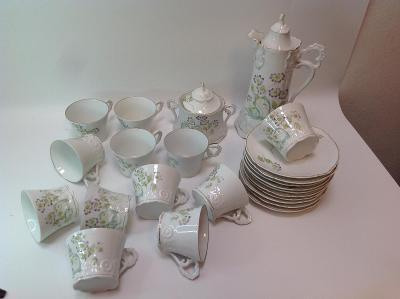 Secesní čajový servis pro 12 osob