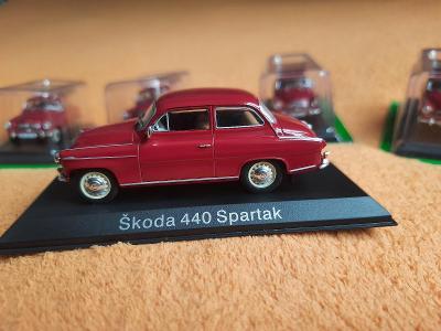 závodní filmová ŠKODA ( 2 ) SPARTAK 440 (1957) 1:43 + DÁREK za 100 KČ