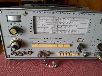Generátor signálu vysokofrekvenční G4-116 - ruský- retro