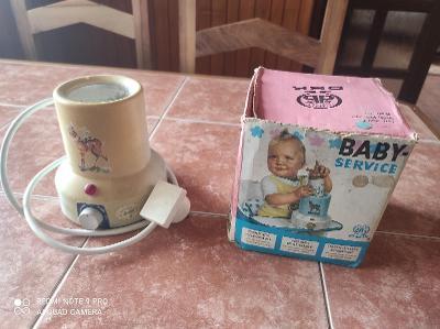 Retro Baby service / ohřívač na mléko v kojenecké lahvi