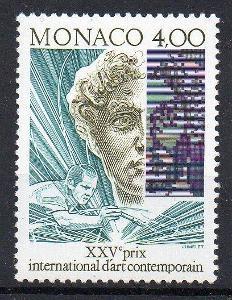 Monako 1991, známka moderné umění, svěží