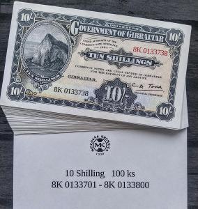 Mincovna Kremnice - Gibraltar, oficiální replika 10 Shillings 1934