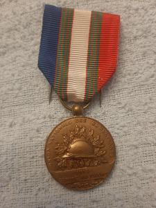 Medaile veteránů 1. sv. války 1914-1918, Francie, legie, bronz