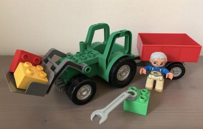 LEGO DUPLO 4687 - Traktor zelený