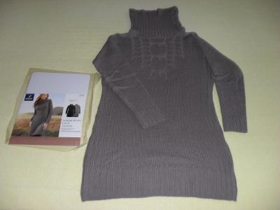 Dlouhý šatový svetr, vel. 40/42, zn. Tchibo - NOVÝ