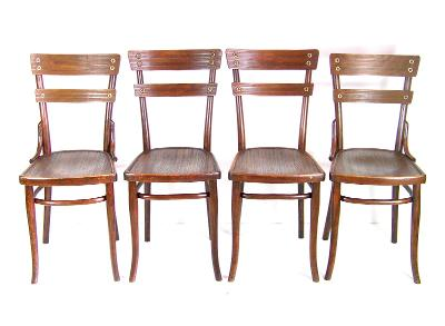 4x Židle Nr.651, 1907ca