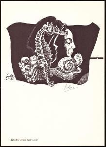 GRAFICKÝ LIST J. LIESLER, PODPIS LIESLER, PŘÍTISK ZASL. UMĚLEC (T9825)