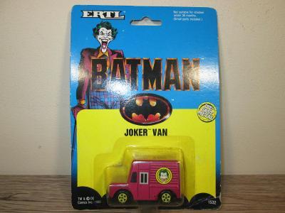 ERTL BATMAN JOKER VAN DIE CAST METAL 1989 (132)