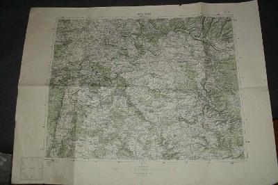 ČSLA -  Mapa vojenská Rakovník a okolí  1927 !!!  zachovalá speciálka