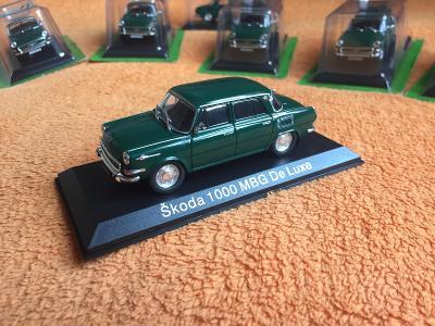 sportovní  Škoda 1000 MBG DE LUXE (3) sbírkový 1:43 + DÁREK za 100 KČ