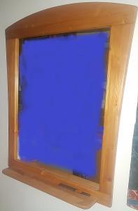 Nástěnné zrcadlo s poličkou