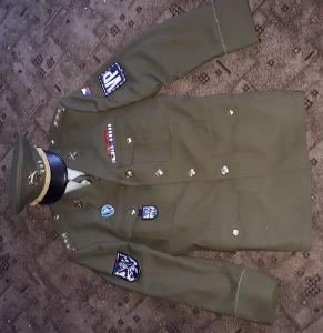 komplet uniforma AČR vz.97 vysoký důstojník VP