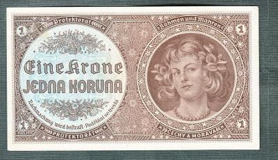 1 koruna 1940 serie H078 neperforovana stav 1-