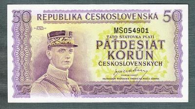 50 kčs 1945 serie MS NEPERFOROVANA stav 1+ !!!