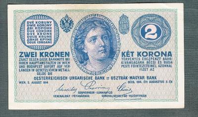 2 koruny 1914 serie C pěkná