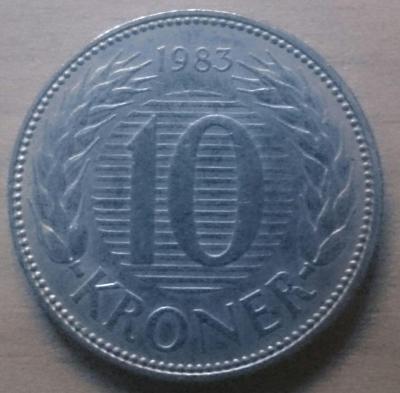 Dánsko 10 Kr 1983