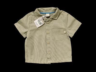 Plátěná  košile 100% bavlna TU 3-6m NOVÁ