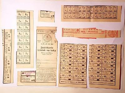 XXIIIa, POTRAVINOVÉ LÍSTKY -  konvolut rok1941