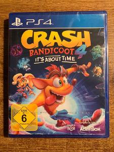 CRASH BANDICOOT 4 : IT'S ABOUT TIME - PLAYSTATION 4 - NOVÁ - ZABALENÁ