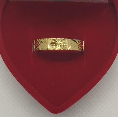 Ag - Stříbrný zlacený prsten vel. - 55 (vzorek na snubní prsten )