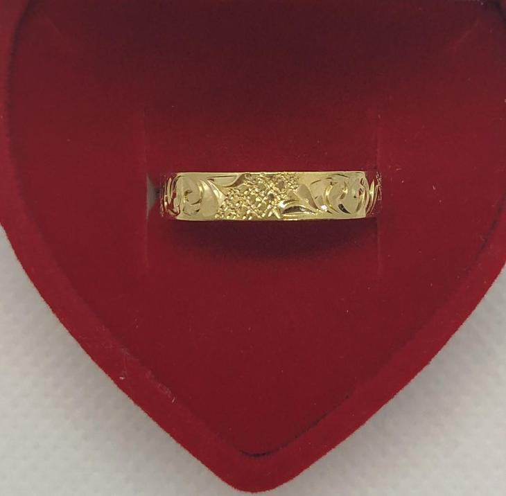 Ag - Stříbrný zlacený prsten vel. - 55 (vzorek na snubní prsten ) - Šperky