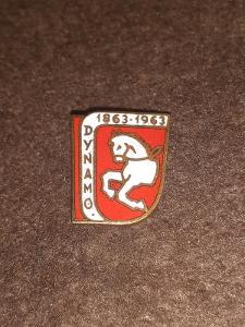 Odznak Dynamo Pardubice 100 let 1863 - 1963, lední hokej.