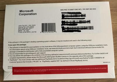 Windows 10 Professional - Instalační CD s licenčním klíčem + Faktura