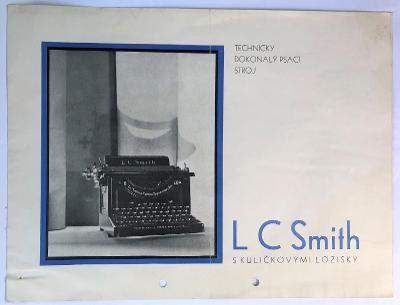 Starý reklamní katalog PSACÍ STROJ SMITH - s kuličkovými ložisky