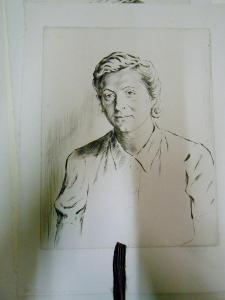 Vladimír Silovský  (1891-1974)  Portrét signovaná grafika