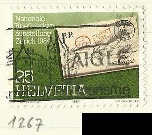 Švýcarsko razítkované, Mi.1267