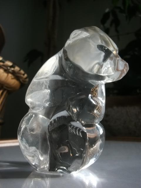 Skleněné zvířátko MOSER - medvídek  - Starožitnosti