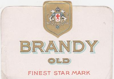 Likérka OSTRAMO-Ostrava-etiketa-Brandy-30-40 léta-od korunky!