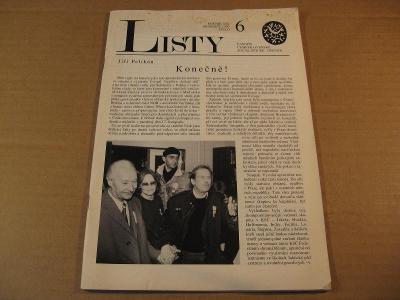 LISTY 6 prosinec 1989 časopis socialistické opozice ČSSR