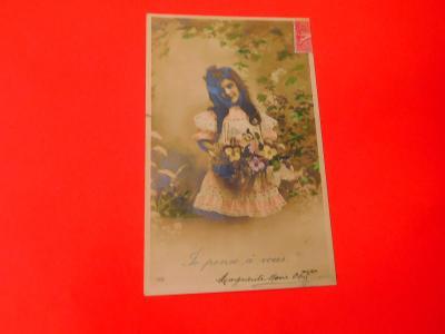 DĚVČÁTKO KVĚTINY 1906