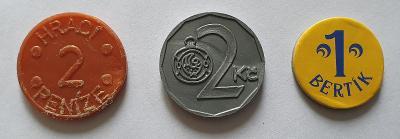 Hrací žetony - peníze=5 – 3 ks