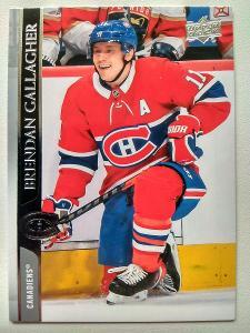 Brendan Gallagher #97 Montreal Canadiens 2020/21 Upper Deck