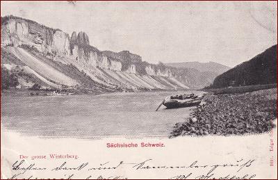 Sächs. Schweiz * Winterberg, řeka, skály * Německo * Z1269