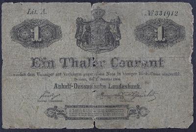 1 thaler courant Anhalt - Dessau 1864