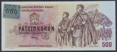 500 Kčs 1973 s.W UNC kolek