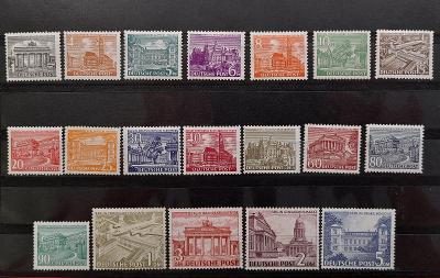 Západní Berlín č. 42-60** Stavby - kompletní série !